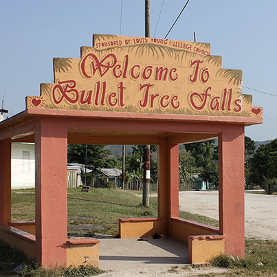 Welcome to Bullet Falls Sign